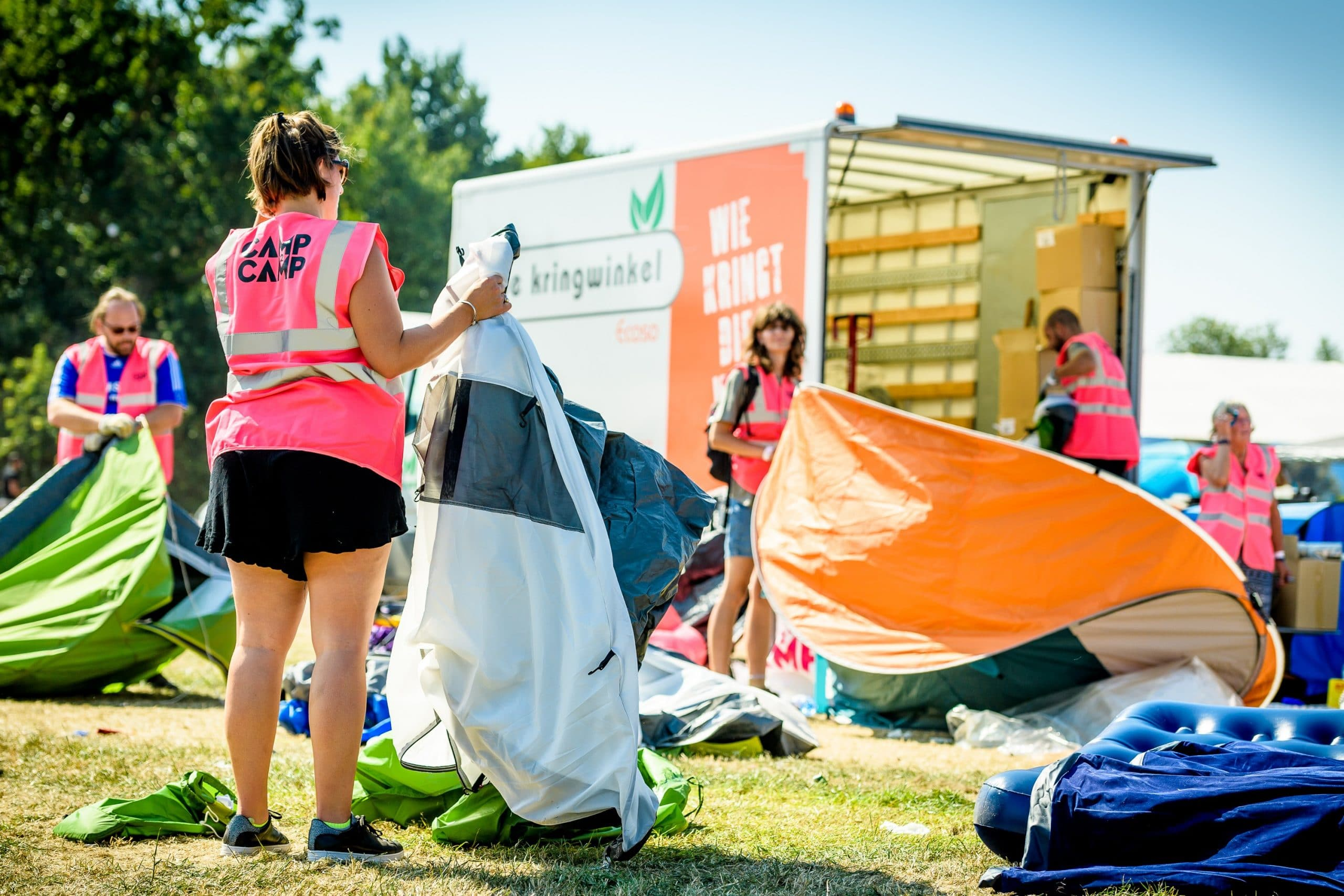 World-famous festival to stop mountains of re-usable camping gear being thrown away
