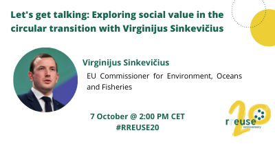 Postponed – Episode 3 – Let's get talking: Exploring social value in the circular transition, with Virginijus Sinkevičius, EU Commissioner for Environment, Oceans and Fisheries